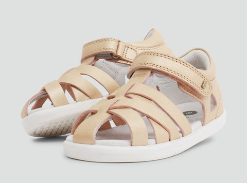 Bobux I Walk Tropicana Closed Sandal Gold - Prairie Lane Boutique for Kids