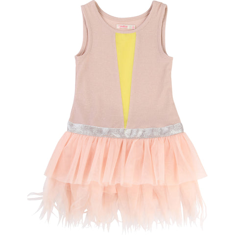 Billieblush Girls Pink Ruffled Party Dress - U12209