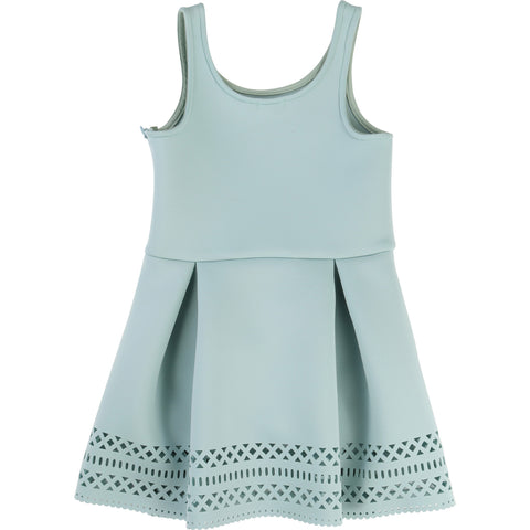 Billieblush Girls Turquoise Neoprene Dress - U12215 - Prairie Lane Boutique for Kids