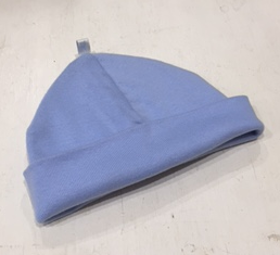 uh-oh baby Light Blue Cotton Beanie