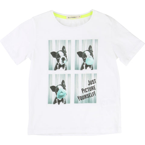 Billybandit Boys White T-Shirt - V25102