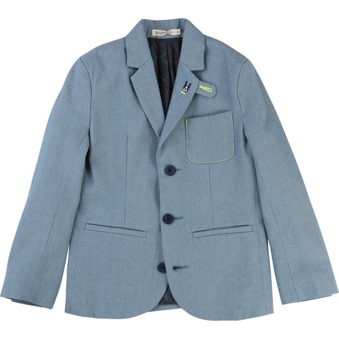 Billybandit Boys Chambray Suit Jacket - V26030