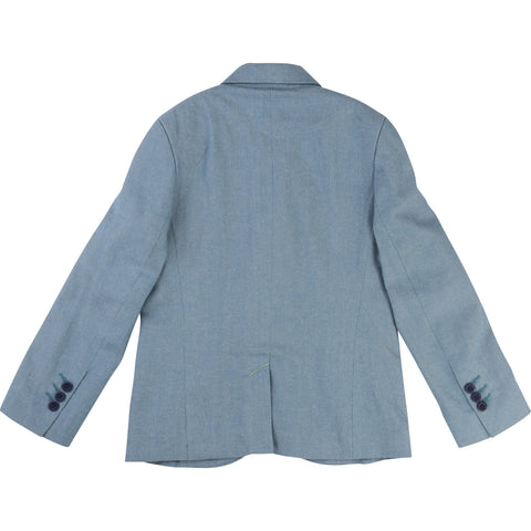 Billybandit Boys Chambray Suit Jacket - V26030 - Prairie Lane Boutique for Kids