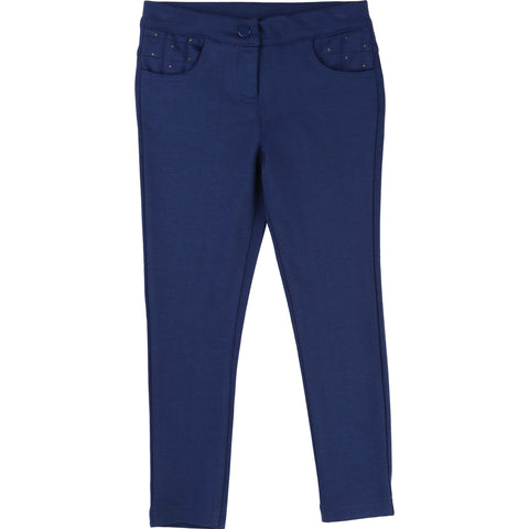 Carrement Beau Girls Navy Jeggings - Y14015 - Prairie Lane Boutique for Kids