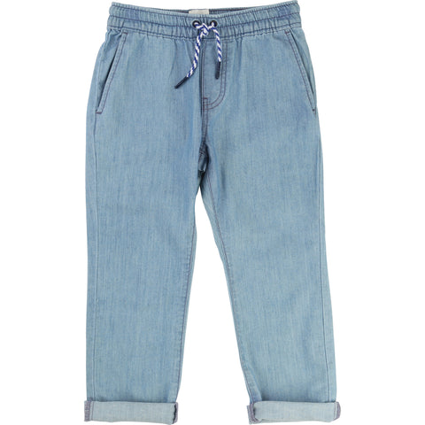 Carrement Beau Chambray Denim Trousers - Y24019 - Prairie Lane Boutique for Kids