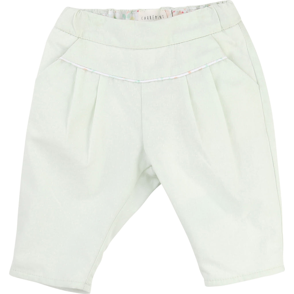 Carrement Beau Baby Girl Sea Green Trousers - Y94001 - Prairie Lane Boutique for Kids