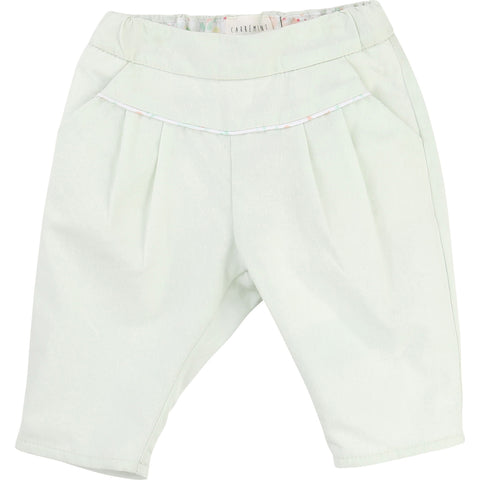 Carrement Beau Baby Girl Sea Green Trousers - Y94001