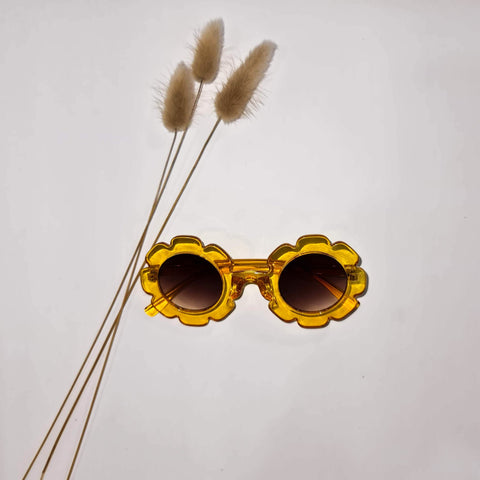 Vintage Daisy Sunglasses Yellow