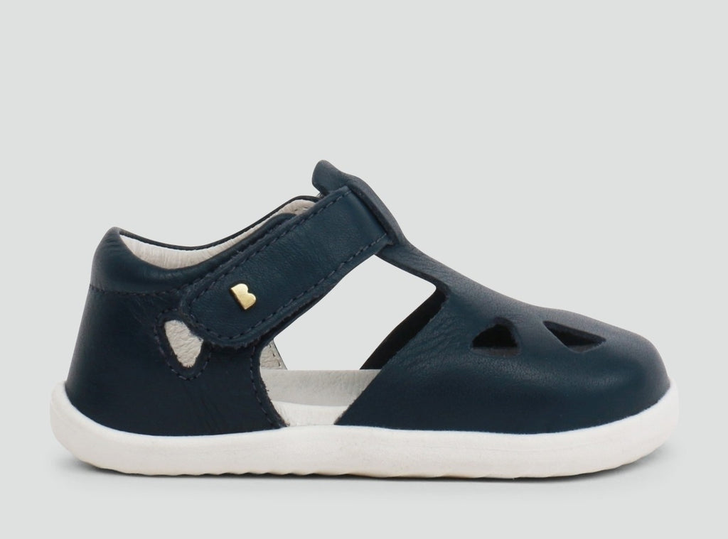 Bobux Step up Zap Closed Sandal Navy - Prairie Lane Boutique for Kids