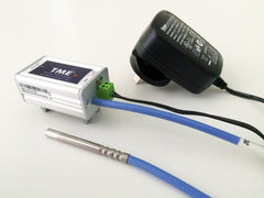 TME-P-DIN-RAIL Ethernet Temperature Thermometer runs over extended power range.
