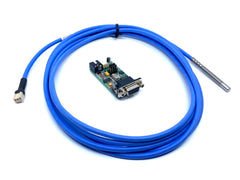 TM-Mikrotik RS232 board with temperature sensor probe on cable