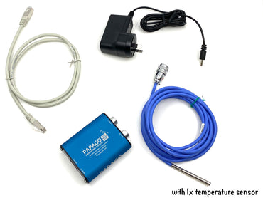 Networked environmental sensor with 1x temperature sensor