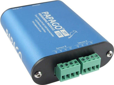 Papago with PT100 PT1000 terminal block connectors over ETHERNET 2PT-ETH 2-Channel environmental monitoring solution, with PT-100 PT-1000 connections, over Ethernet