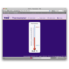 TME Ethernet Thermometer Web intertace, from 8wired.com.au