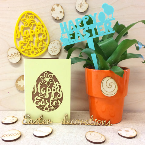 Workshop: Laser-cut Easter decorations