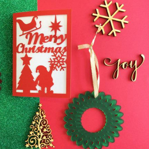 Workshop: Laser-cut Christmas Card & Decoration