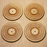 Set of 4 Record Coasters