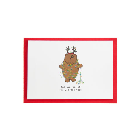 Dracubear Alfredo Tree Christmas Card