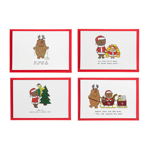 Dracubear Christmas Card Set