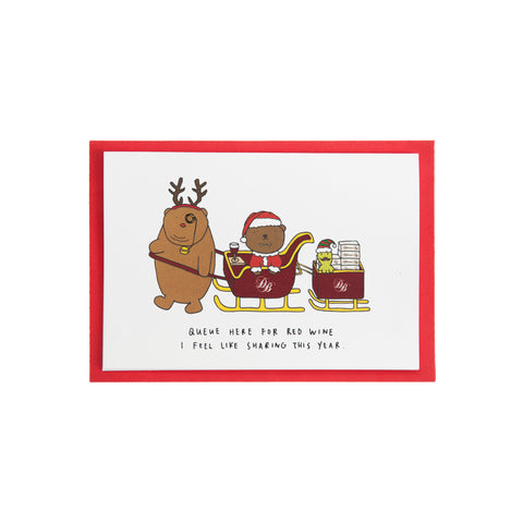 Dracubear Free Wine Christmas Card
