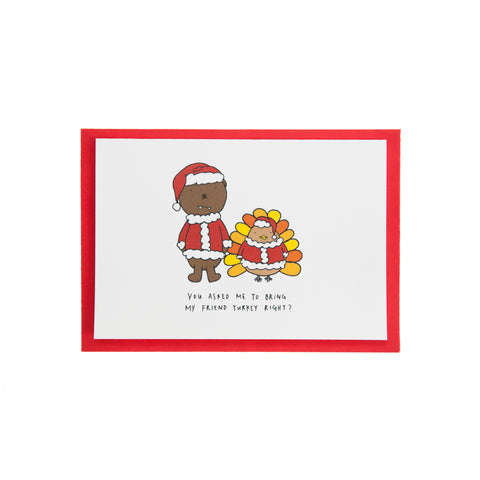 Dracubear Turkey Friend Christmas Card
