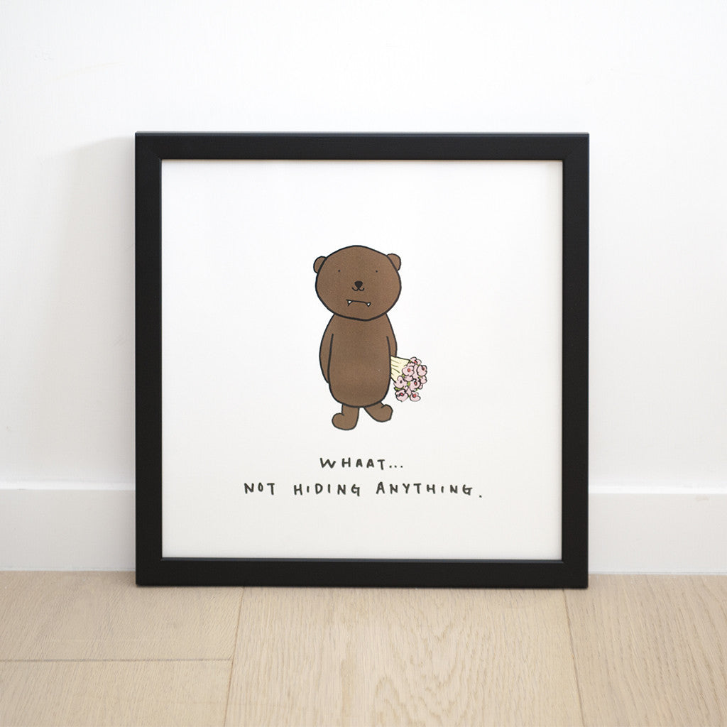 Dracubear Not Hiding Anything Print