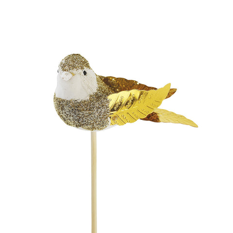 Gold Birdie Cupcake Toppers