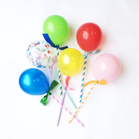 Happy Balloon Cake Toppers