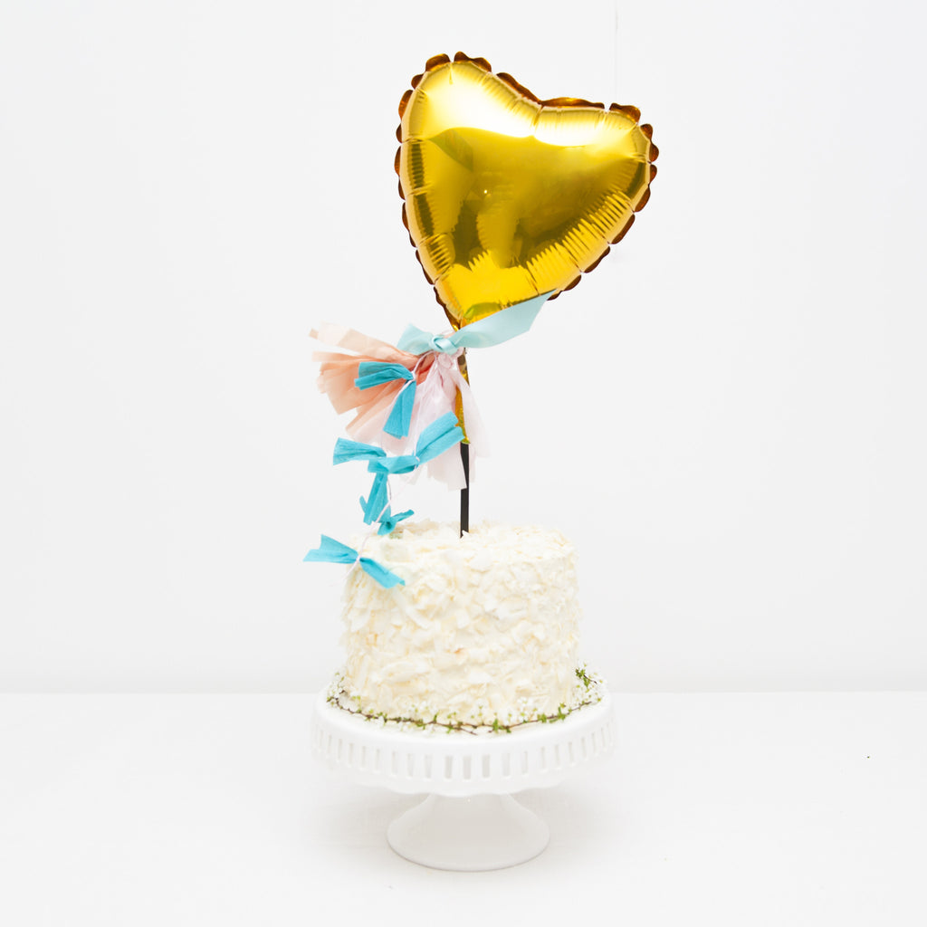 Heart Balloon Cake Topper