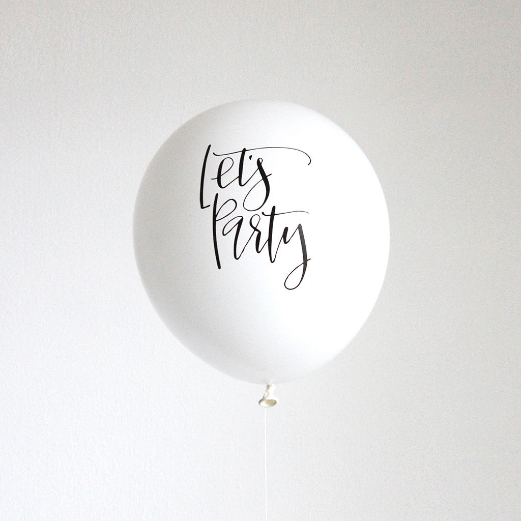 Let's Party Calligraphy Balloons