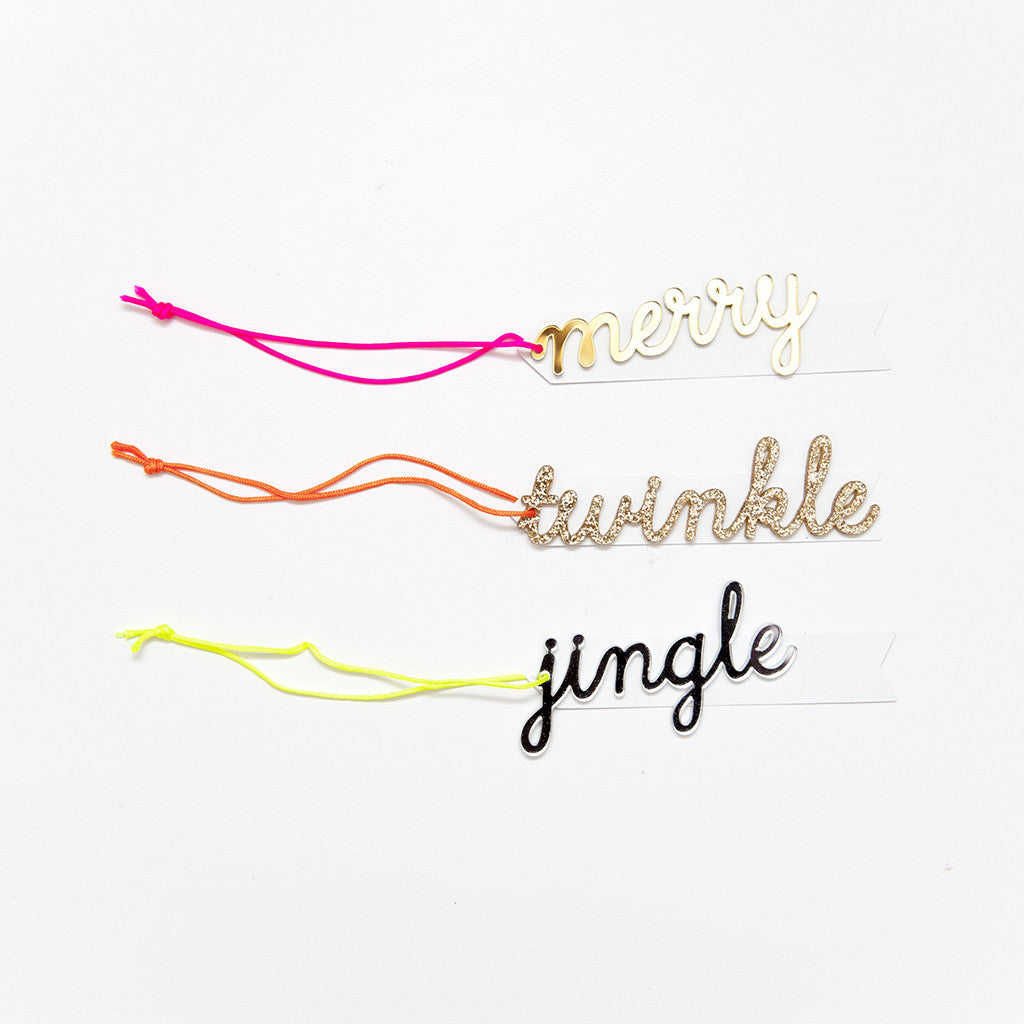 Merry Twinkle Jingle Ornament Gift Tags