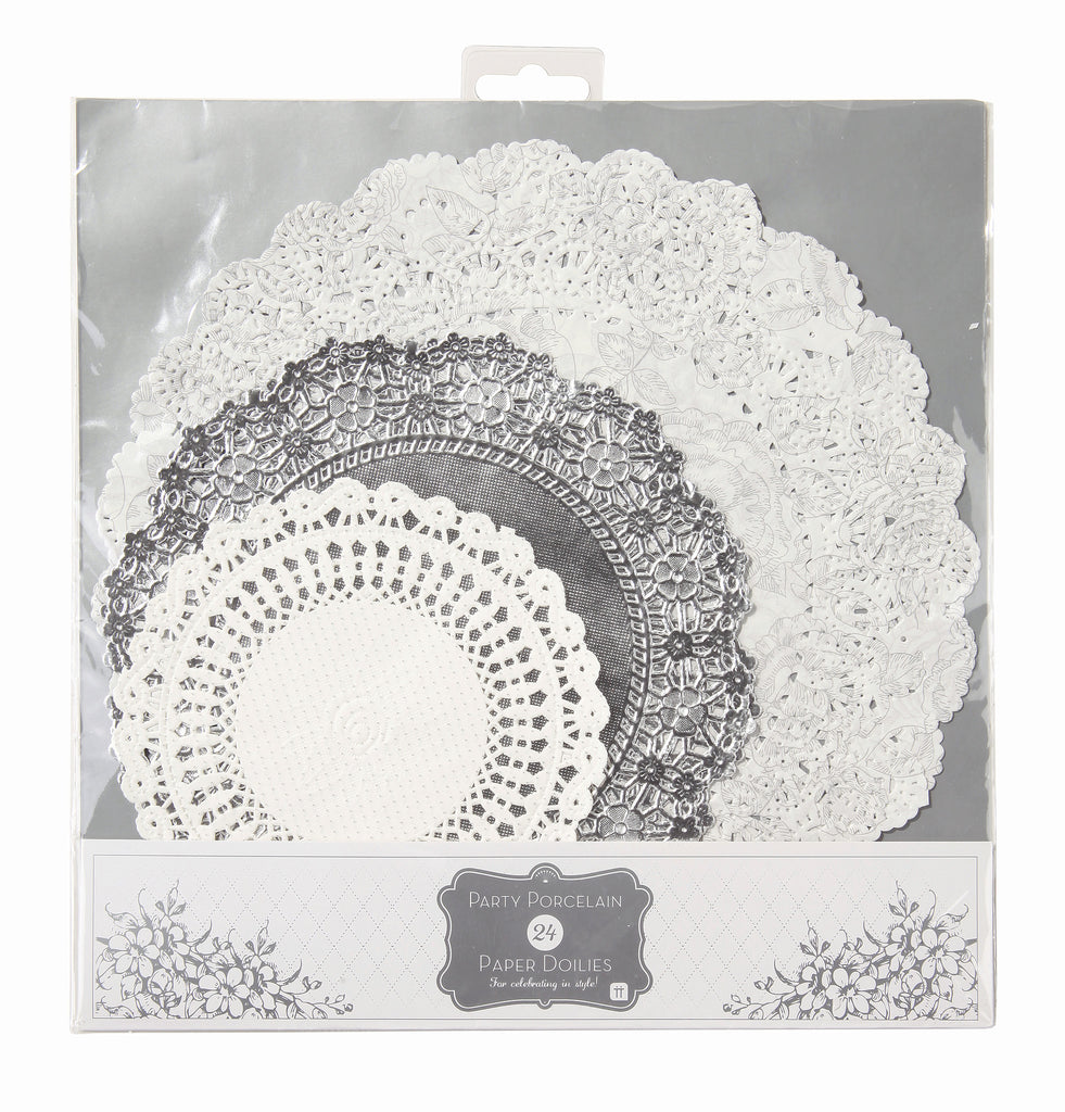 Party Porcelain Silver Doily