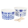Party Porcelain Blue Picnic Bowls