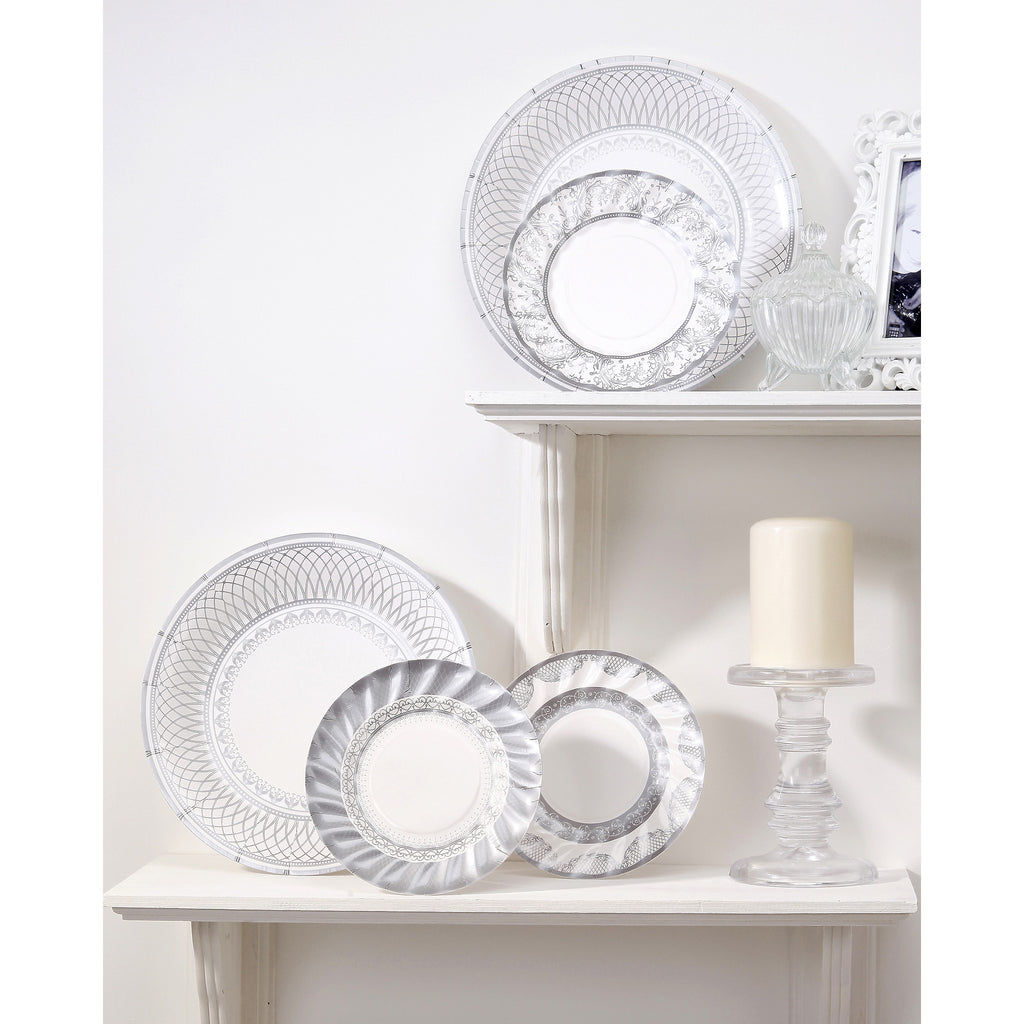 Party Porcelain Silver Small Plates