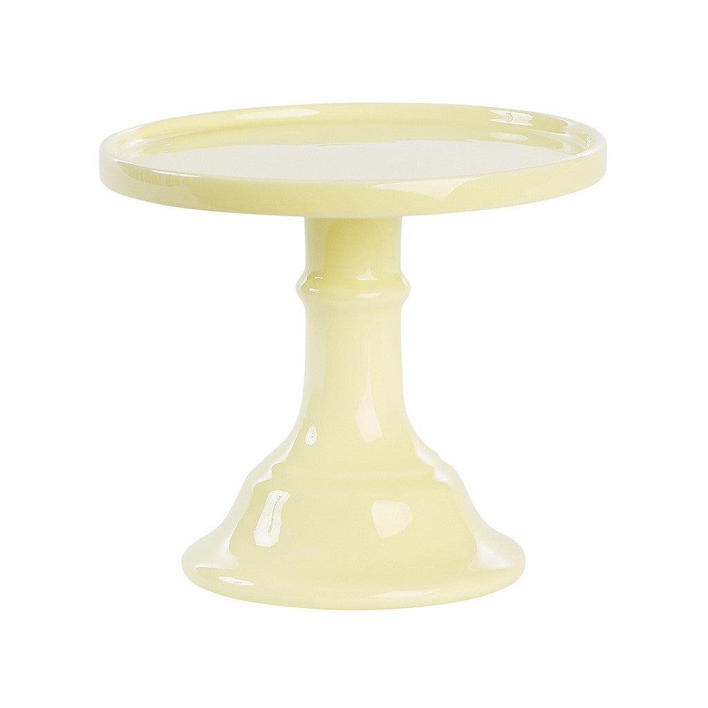 Pastel Yellow Ceramic Pedestal Cake Stand (Small)