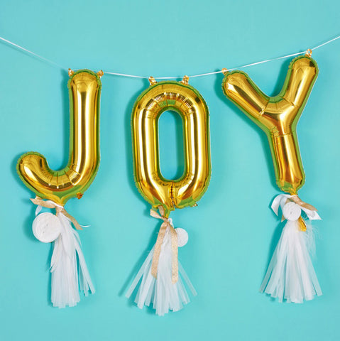 JOY Balloon Banner