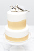 Love Bird Bride & Groom Cake Topper (Brown)
