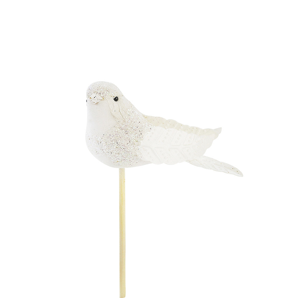 White Birdie Cupcake Toppers