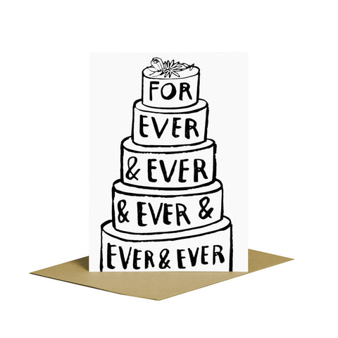 Forever and Ever Cake Card