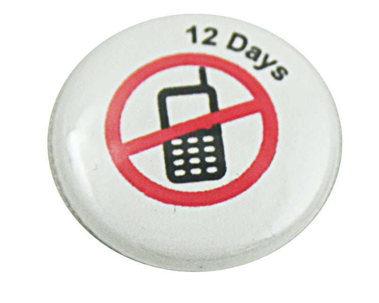 "1.0"" Button - 12 Days Without a Cell Phone"