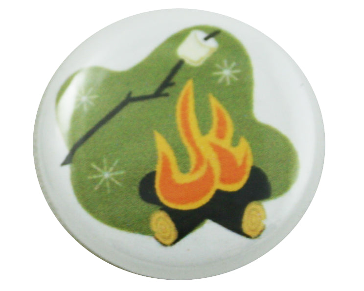 "1.0"" Button - Toasting Marshmallows"