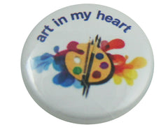 "1.0"" Button - Art In My Heart"