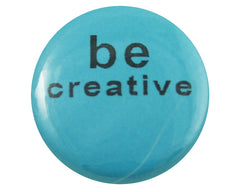 "1.0"" Button - Be Creative"