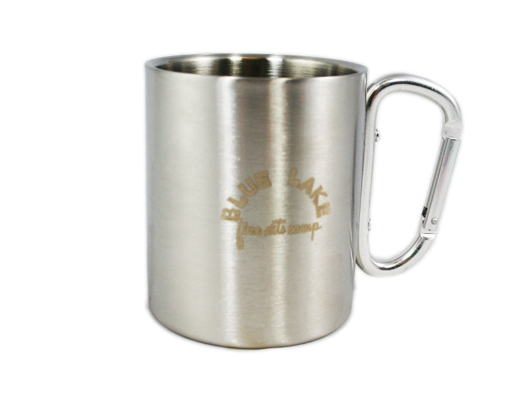 Coffee Mug - Stainless Steel with Carabiner Handle