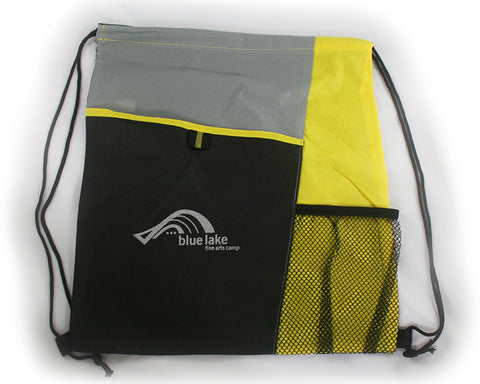 Carrier/Backpack - Mesh Pocket Drawstring Backpack (Yellow)