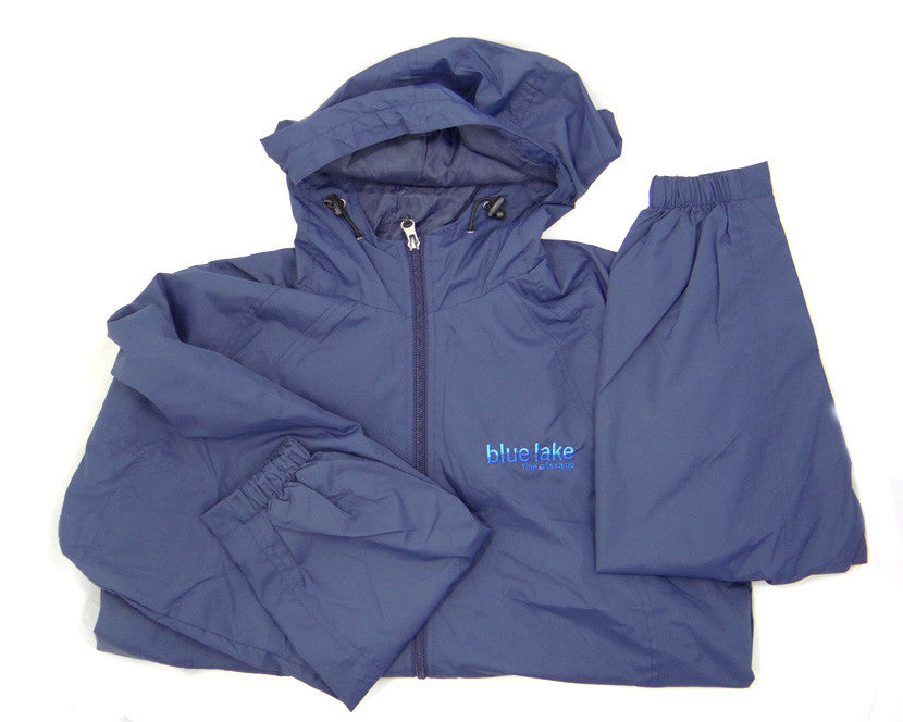 Jacket/Raincoat - Hooded Full-Zip Jacket