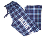 Pants - Flannel Pajama Pants (Blue Plaid)