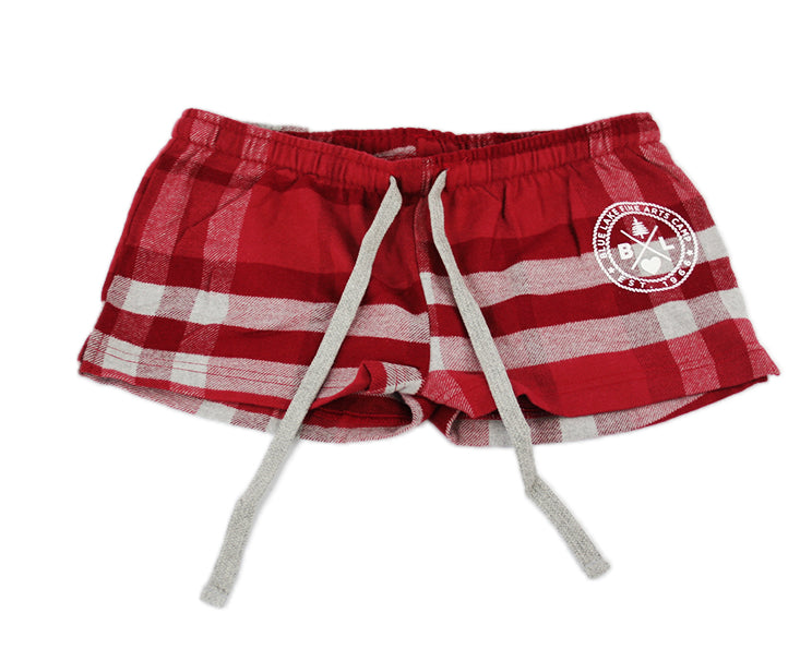 Pants - Shortie Pie Plaid Shorts (Ruby)