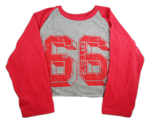 """Plato"" - Tri-Blend Raglan Sleeve Shirt (Red)"