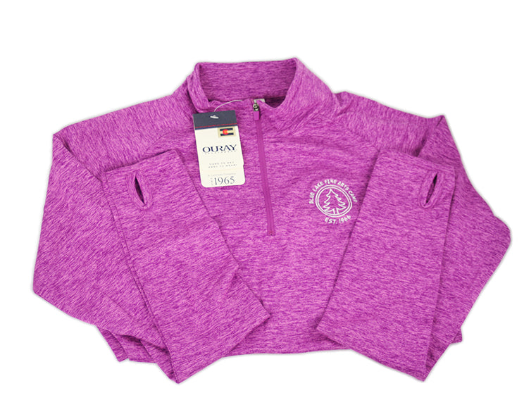 """Rapoport"" - Swerve 1/4-Zip Athletic Pullover (Purple)"